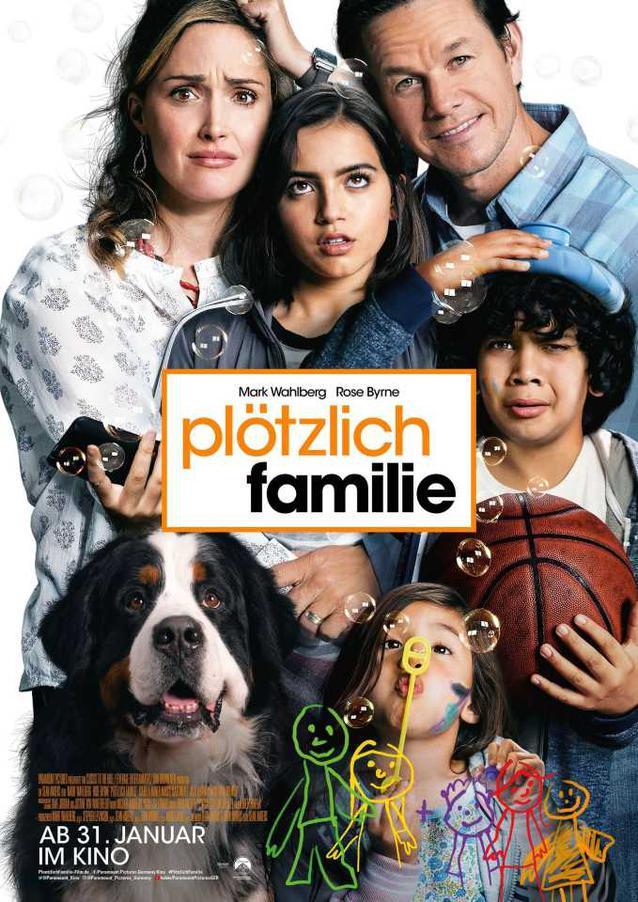 """""""Plötzlich Familie""""-Filmplakat - Mark Wahlberg und Rose Byrne"""