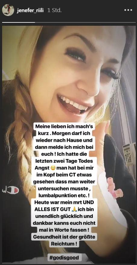 BTN-Star Jenefer Riili: Gesundheits-Update