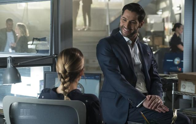 """Lucifer"" - Staffel 4: Lucifer Morningstar (Tom Ellis) und Chloe Decker (Lauren German)"