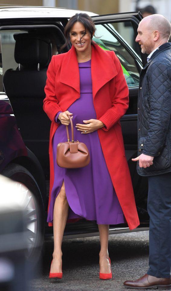 Die schwangere Meghan Markle am 14. Januar 2019 in Birkenhead