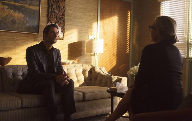 """""""Lucifer""""-Stars Rachel Harris alias linda martin und tom ellis als der teufel"""