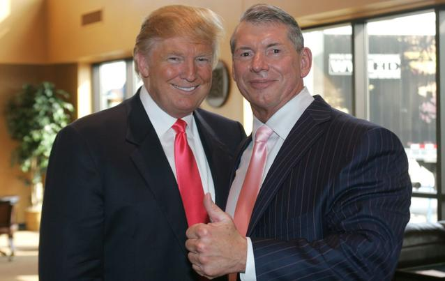 Donald Trump Vince McMahon WWE