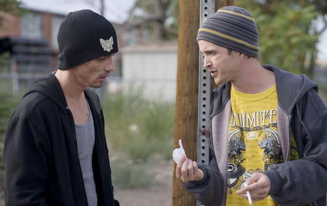 "Jesse Pinkman und Skinny Pete in ""Beaking Bad"""