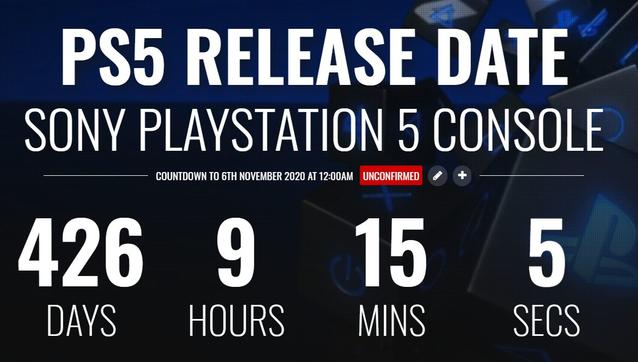 PS5 Release Countdown