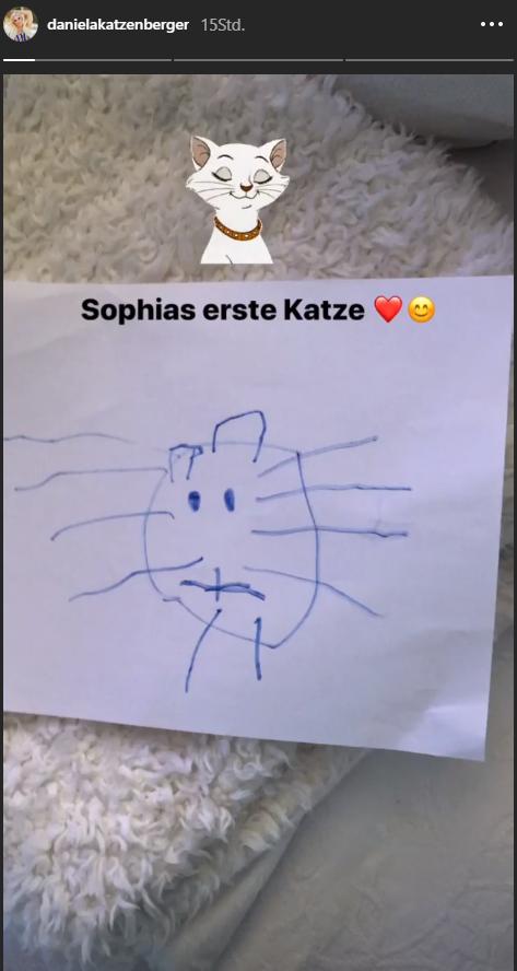 Daniela Katzenbergers Tochter malt ihre erste Katze