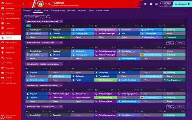 Football Manager 2020 Taktik-Menü