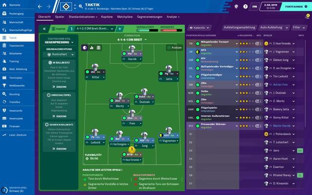 Football Manager 2020 Taktik