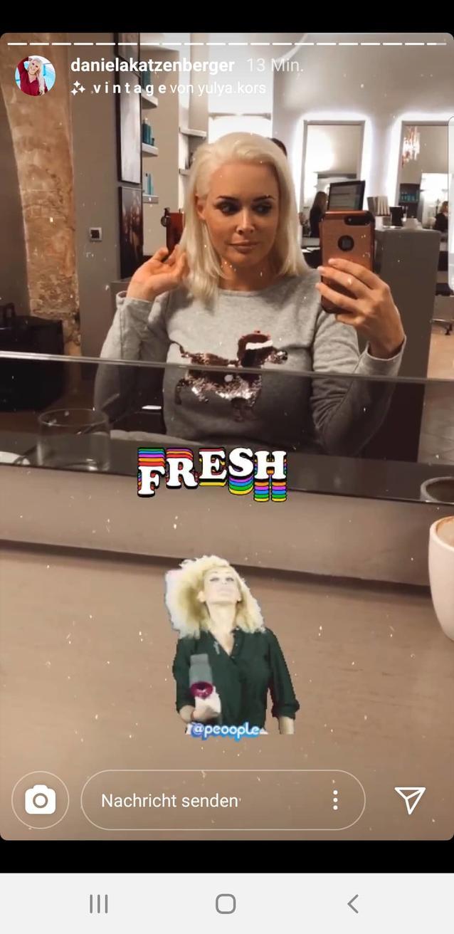 Daniela Katzenbergers echte Haare