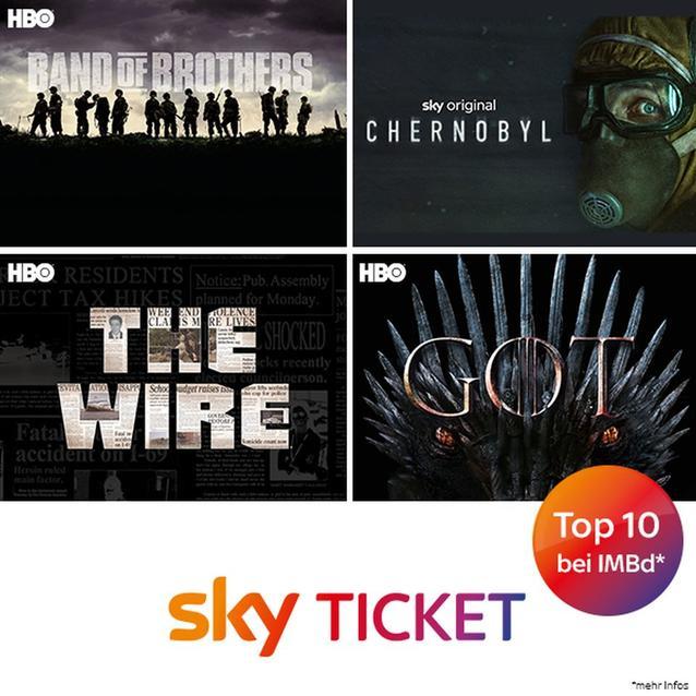 Top-Serien bei Sky