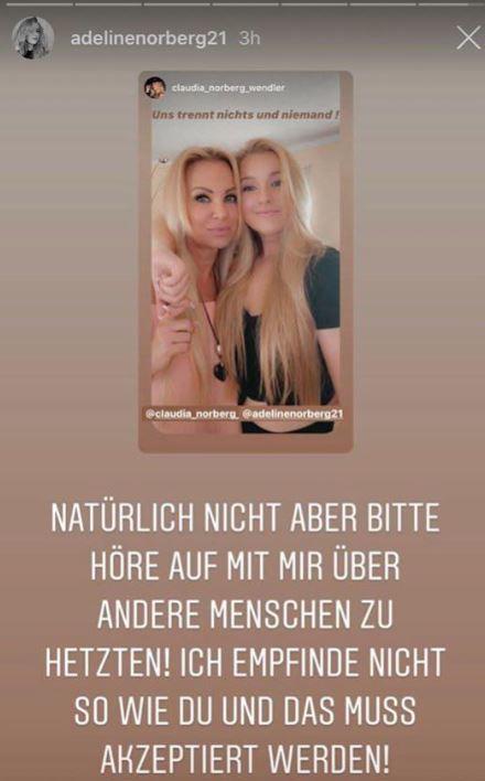 Adeline Norberg auf Instagram