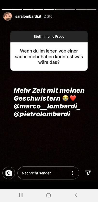 Sara Lombardi vermisst Pietro Lombardi