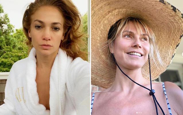 Heidi Klum und Jennifer Lopez ohne Makeup
