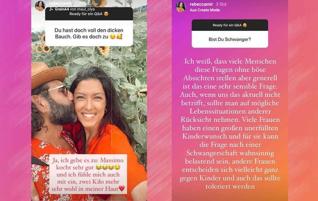Rebecca Mir nach Schwangerschaftsgerüchten: