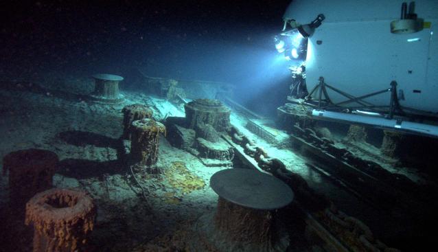 Titanic Wrack im Ozean