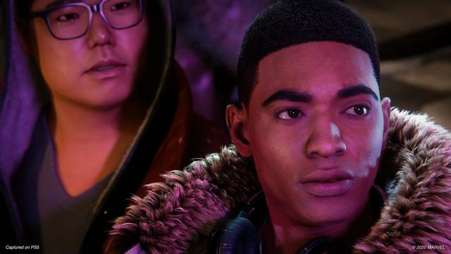 Miles Morales und Ganke auf PS5