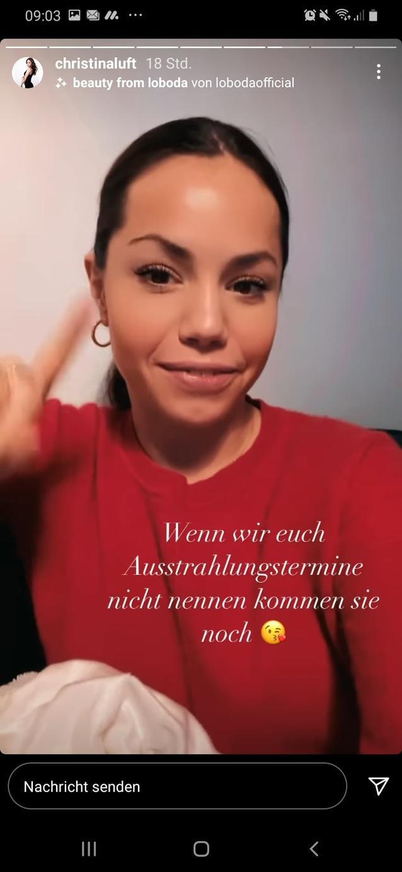 Christina Luft vertröstet auf Instagram ihre Fans