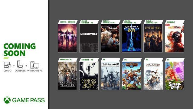 Xbox Game Pass im März und April