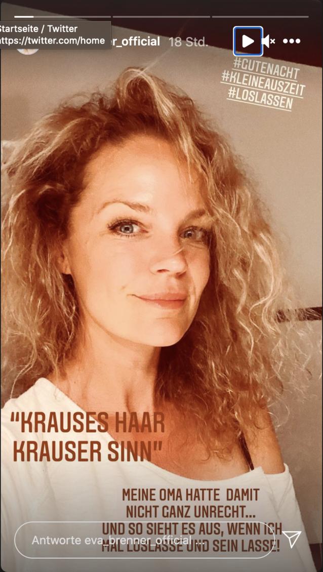 Eva Brenner präsentiert ihren neuen Look