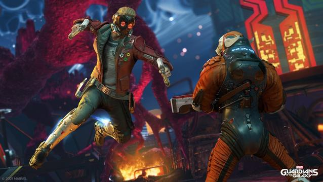 Guardians of the Galaxy Star Lord in Action