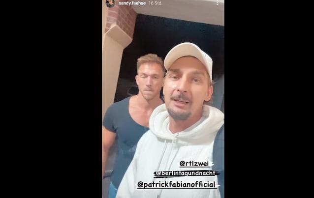 BTN-Star Sandy Fähse am Set zurück