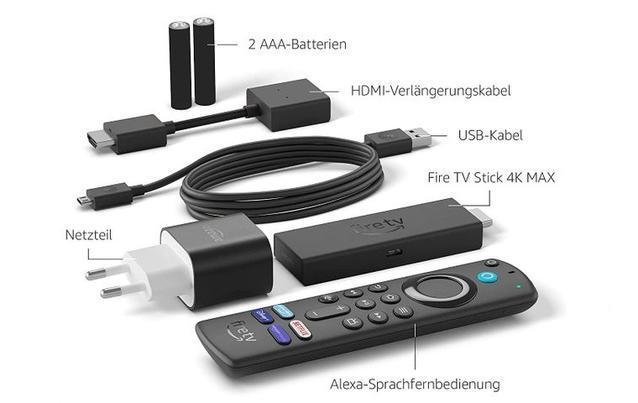 Der Lieferumfang des neuen Amazon Fire TV Stick 4K Max