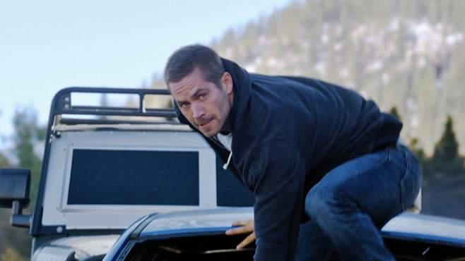 "Paul Walker in Action in ""Fast & Furious 7"""