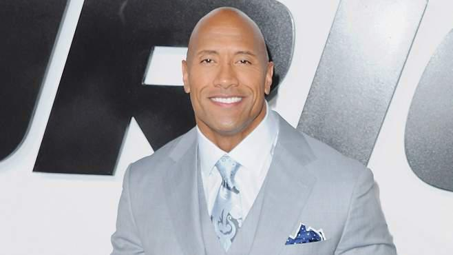The Rock bei der Fast and Furious 7 Premiere