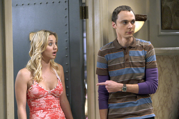"Penny und Sheldon in ""The Big Bang Theory"""