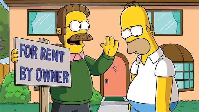 Ned Flanders und Homer Simpsons