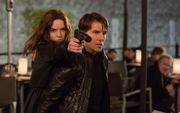 "Tom Cruise in ""Mission: Impossible - Rogue Nation"" in Action"