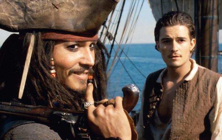 """Orlando Bloom und Johnny Depp in """"Fluch der Karibik"""""""