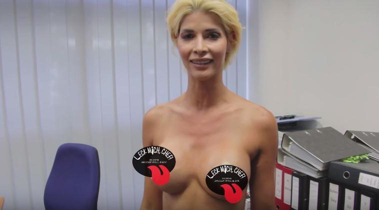 Micaela Schäfer zeigt ihre Titten und Fotze