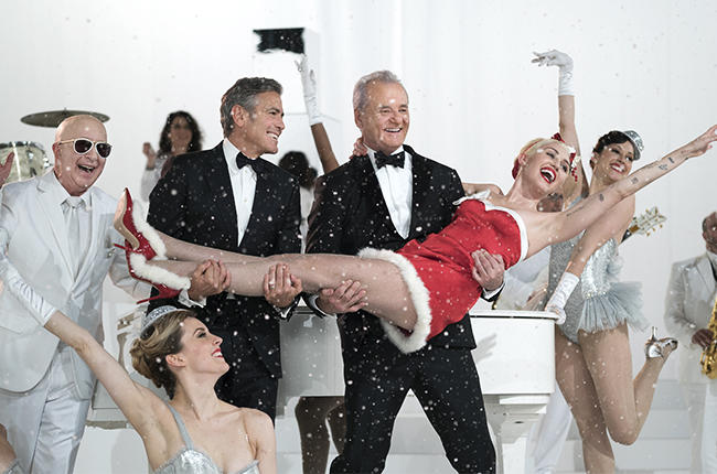 very murray christmas george clooney bill murray miley cyrus