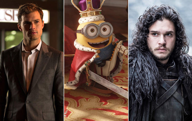 Time, Minions, Game of Thrones, Fifty Shades of Grey