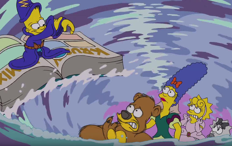 Simpsons Disney Couch-Gag