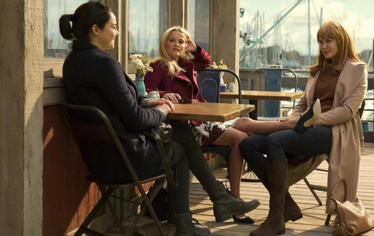 Big Little Lies mit Shailene Woodley, Reese Witherspoon, und Nicole Kidman (von links). Foto: HBO