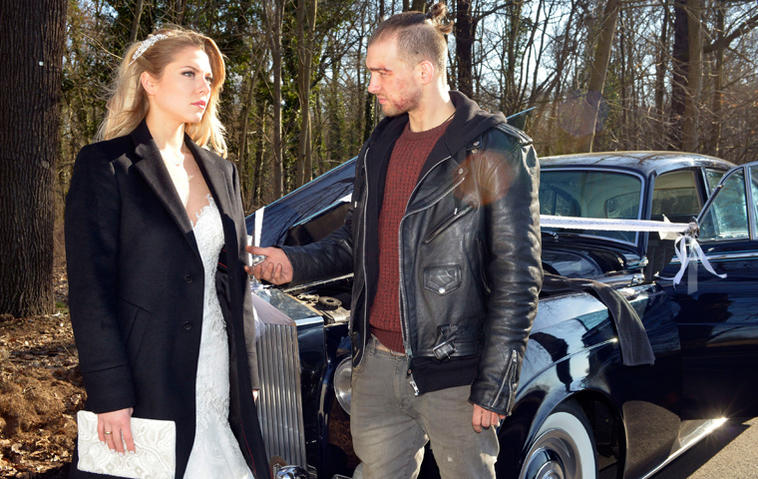 GZSZ-Hochzeit: Chris entführt Sunny. Foto: RTL / Rolf Baumgartner