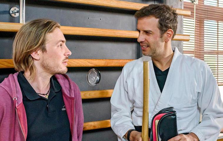 Sturm der Liebe: Florian Stadler (rechts) als Nils Heinemann. Foto: ARD / Christof Arnold