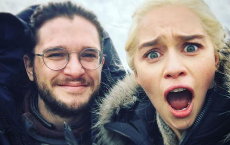 Game of Thrones: Emilia Clarke aka Daenerys und Kit Harington aka Jon Snow