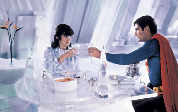 Margot Kidder (Lois Lane) und Christopher Reeve (Superman)