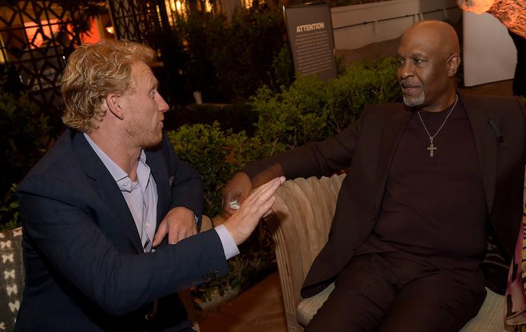 """Grey's Anatomy""-Stars James Pickens Jr. (Webber) u Kevin McKidd (Owen Hunt)"