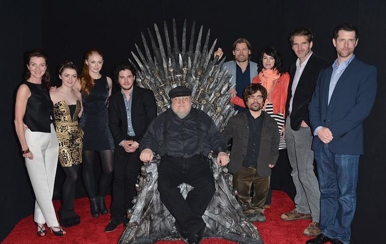 """George R. R. Martin und der """"Game of Thrones""""-Cast"""
