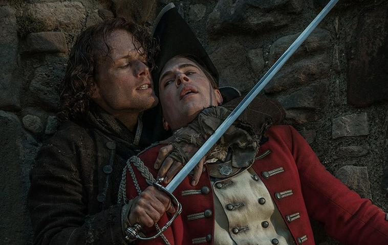 Outlander: jamie Fraser (sam heughan) und lord john william grey