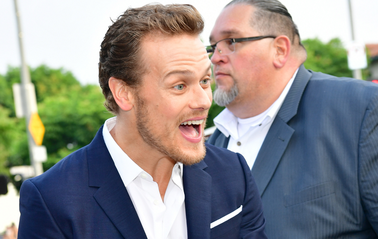 """Outlander""-Star Sam Heughan auf 'The Spy Who Dumped Me'-Premiere"