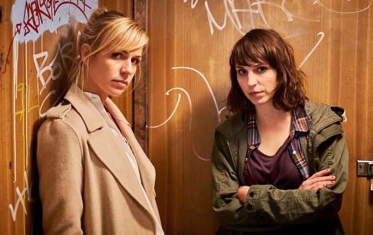 """""""SOKO Potsdam - Drehstart"""": Katrin Jaehne (Rolle: Sophie Pohlmann) und Caroline Erikson (Rolle: Luna Kunath)"""
