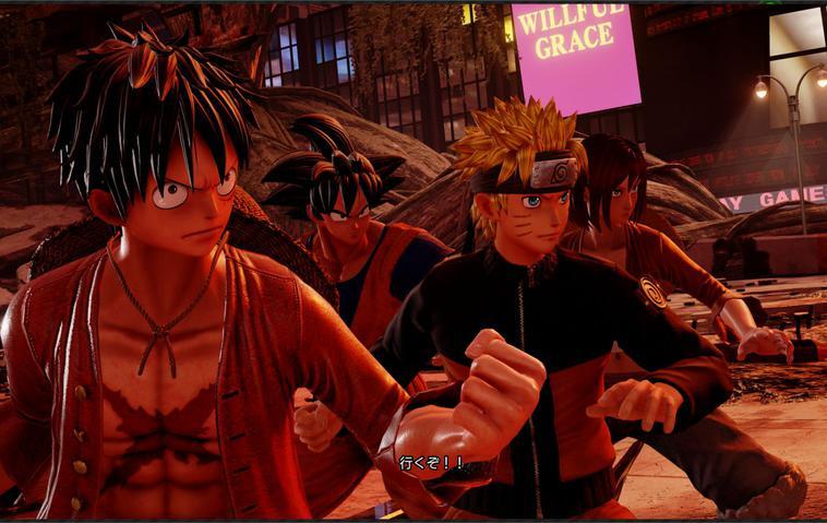 Jump Force Naruto Ruffy Goku