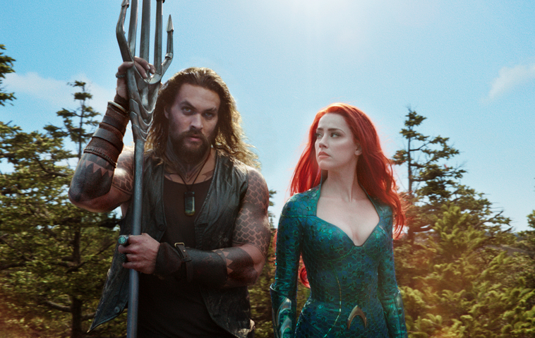 """Aquaman"": Jason Momoa als Arthur Curry, Amber Heard als Mara"