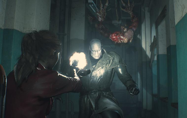 Resident Evil 2 Claire, Tyrant and Licker
