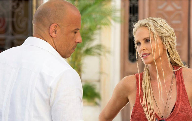 Charlize Theron in Fast and Furious