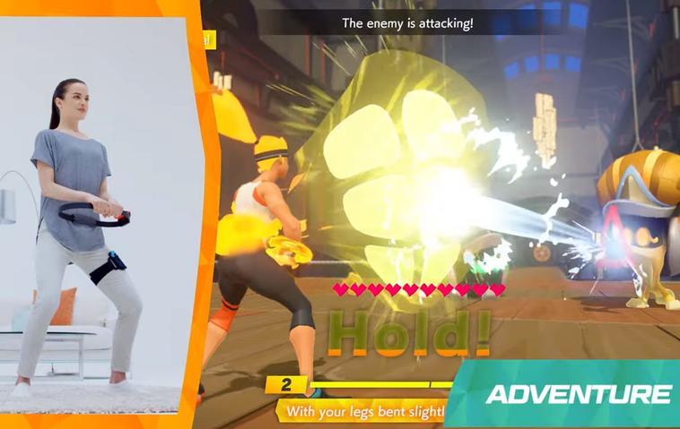 """Nintendo enhüllt sein neues interaktives Fitness-Rollenspiel """"Ring Con Adventure"""""""